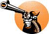 Bandit Cowboy Revolver zeigt Handfeuerwaffe