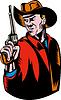 Cowboy-Pistole lookingside