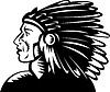 ID 3977179   Indianischen Häuptling mit Kopfschmuck   Stock Vektorgrafik   CLIPARTO