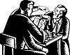 Mann vier Arme spielen Schach