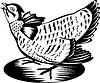 Prairie Huhn Hen Retro