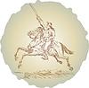 Amerikanische Revolution Soldat Reitpferd