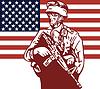 Amerikanischer Soldat Soldat trägt armalite Gewehr