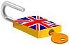 Padlock und Key britischen Flag Design