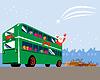 Weihnachtsmann Double Decker Bus