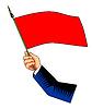Hand mit Flagge