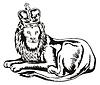 Lion Großkatze mit Krone
