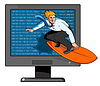 Surfer on Net