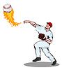 Amerikanischen Baseball-Spieler Pitcher