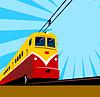 Elektrische Passagierzug Retro