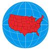 ID 3984047 | 글로브 미국지도 | 높은 해상도 그림 | CLIPARTO