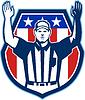 American Football Offizielle Schiedsrichter Touchdown