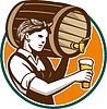 Frau Bartender Gießen Keg Fass Bier Retro