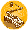 Cherry Picker Bucket Truck Access Equipment Retro