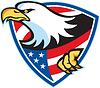 American Bald Eagle-Flaggen-Schild