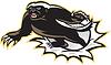 Honig-Dachs-Maskottchen Jumping
