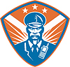 Policeman Security Guard Polizist Crest