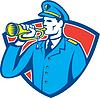 Soldat Blowing Bugle Crest