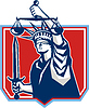 Statue of Liberty Klinge ausübt Scales Justiz