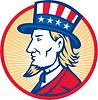 Uncle Sam amerikanischen Seite
