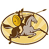 Valkyrie Amazon Krieger Horse Rider