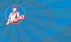 ID 4009362 | Hydraulik pracownika Monkey Wrench Retro | Stockowa ilustracja wysokiej rozdzielczości | KLIPARTO