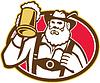 Bayerisches Bier-Trinker Tasse Retro