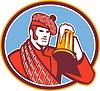 Scotsman Biertrinker Tasse Retro