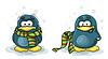 gefrorenen Pinguin