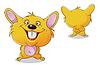 ID 3945184 | Hamster z przodu iz tyłu | Klipart wektorowy | KLIPARTO