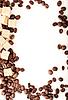 Kaffeebohnen, Papier, | Stock Foto