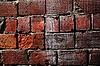 Beschädigung der Ziegelmauer | Stock Foto