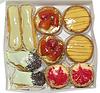 Vielfalt der französisch Gebäck mit Sahne, Erdbeer- | Stock Foto
