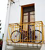 Bike on balcony | Stock Foto