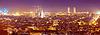 Wieczorem rodzaj Barcelony z atrakcji | Stock Foto