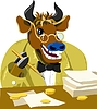 Cartoon bull is businessman | Stock Illustration