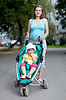 Pregnancy woman with stroller | Stock Foto