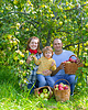 Familie mit geernteten Äpfel | Stock Photo