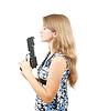ID 4001208 | Shot z piękną dziewczyną posiadania broni | Foto stockowe wysokiej rozdzielczości | KLIPARTO