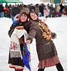 Happy girls celebrating Shrovetide | Stock Foto