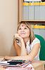 ID 4002989 | Женщина мечтает на ее рабочем месте | Фото большого размера | CLIPARTO