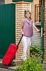 ID 4010786 | Glückliche Frau mit Koffer | Foto mit hoher Auflösung | CLIPARTO