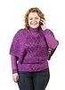 ID 4017777 | Unansehnliche Frau spricht durch Handy | Foto mit hoher Auflösung | CLIPARTO