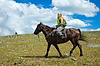 Lone rider on horseback | Stock Foto