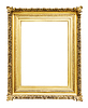 Luxury gold picture frame | Stock Foto