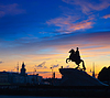Bronze Horseman in St.Petersburg | Stock Foto