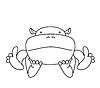 Nette kawaii animalischen Zeichentrickfigur. Hippo.