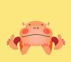 Nette kawaii animalischen Zeichentrickfigur. EPS 10