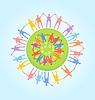 Menschen auf der ganzen Welt, die Hände. Unity-Konzept