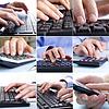 Composite-Geschäftsleute mit Technologie | Stock Foto